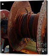 Winch - Cable - Crank - Boats Acrylic Print