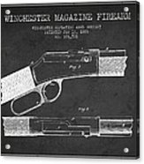 Winchester Firearm Patent Drawing From 1888- Dark Acrylic Print