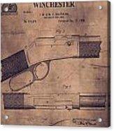 Winchester Rifle Patent Acrylic Print