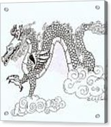 Wind And Cloud Dragon Acrylic Print