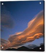 Wind Cloud Over Ben Ohau Range Acrylic Print
