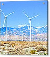 Wind Farm Palm Springs Acrylic Print