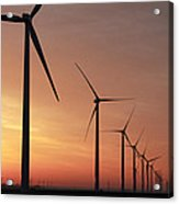 Wind Farm Sunrise Acrylic Print