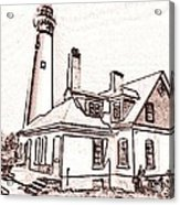 Wind Point Lighthouse Drawing Mode 1 Acrylic Print