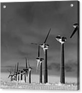 Wind Power Down Acrylic Print by Daniel Hagerman