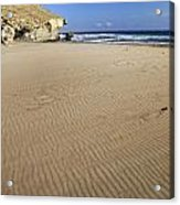 Wind Signals At The Beach Acrylic Print