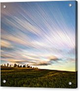 Wind Stream Streaks Acrylic Print by Matt Molloy