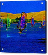 Wind Surf Lessons Acrylic Print