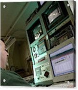 Wind Tunnel Control Room Acrylic Print