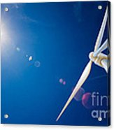 Wind Turbine And Sun  Acrylic Print by Johan Swanepoel