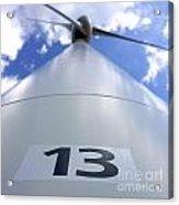 Wind Turbine. No 13 Acrylic Print by Bernard Jaubert