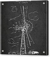 Wind Turbine Patent From 1944 - Dark Acrylic Print