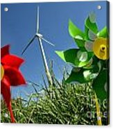 Wind Turbines And Toys Acrylic Print