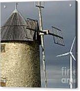 Wind Turbines And Windfarm Acrylic Print