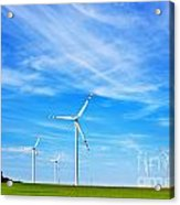 Wind Turbines Farm Acrylic Print