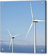 Wind Turbines In The Air Acrylic Print