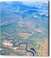 Winding River From The Seaplane In Katmai National Preserve-alaska Acrylic Print