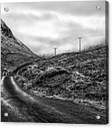 Winding Road In Glen Etive Acrylic Print by John Farnan