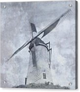 Windmill At Damme In Belgium Countryside Acrylic Print