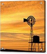 Windmill At Dawn 2008 Acrylic Print