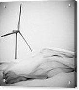 Windmill At Winter Acrylic Print