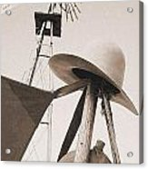 Windmill Canteen And Cowboy Hat 4 Acrylic Print