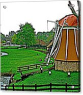 Windmill In A Park In Enkhuizen-netherlands Acrylic Print