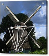 Windmill In Dutch Countryside Acrylic Print