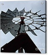 Windmill In The Clouds Acrylic Print