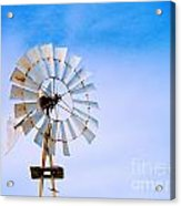 Windmill In Winter Acrylic Print