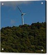 Windmill On A Mountain Acrylic Print