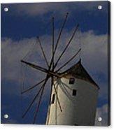 Windmill On Santorini Island  Acrylic Print