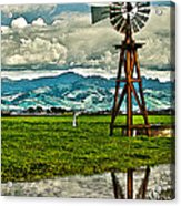 Windmill On The Hills Acrylic Print