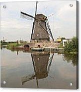 Windmill Reflection Acrylic Print