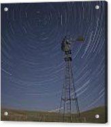 Windmill Stars Acrylic Print by Latah Trail Foundation
