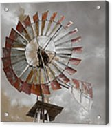 Windmill Acrylic Print by Steven Michael