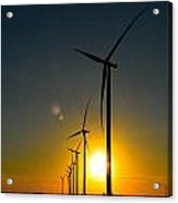 Windmill Sunset Acrylic Print