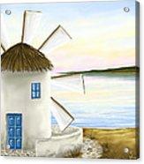 Windmill Acrylic Print by Veronica Minozzi