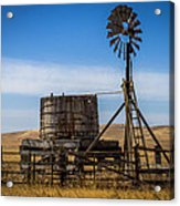 Windmill Water Pump Station Acrylic Print