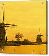 Windmills Netherlands Acrylic Print