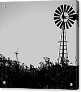 Windmills Now And Then Acrylic Print