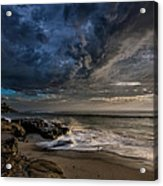 Windnsea Stormy Acrylic Print by Peter Tellone