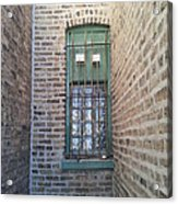 Window Against The Wall Acrylic Print