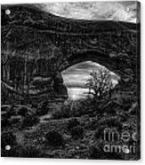 Window Arch At Sunrise Acrylic Print