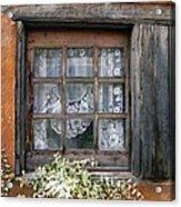 Window At Old Santa Fe Acrylic Print