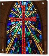 Window At The Little Church In La Villita Acrylic Print