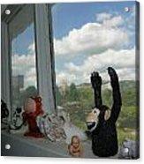 Window Buddies Acrylic Print