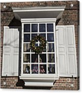 Window Decorations In Williamsburg Acrylic Print