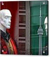 Window Display In Toronto At Christmas Time Acrylic Print
