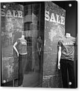 Window Display Sale With Mannequins No.1292 Acrylic Print
